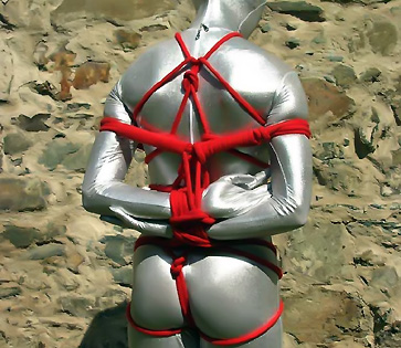GAGGED AND BOUND - bdsm ball kicking videos spandex bondage zentai