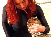 leopard catsuit